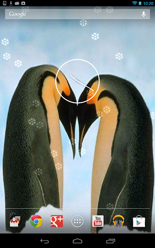 Penguins live wallpaper