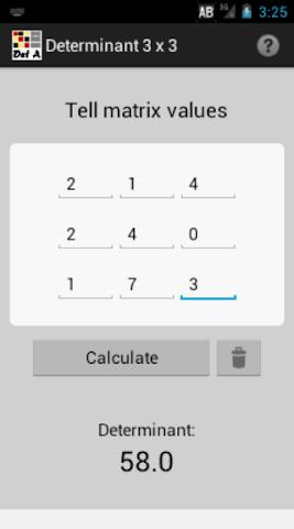 Screenshots for Determinantes e Simplex