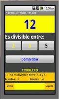 Screenshot of Números Divisibles