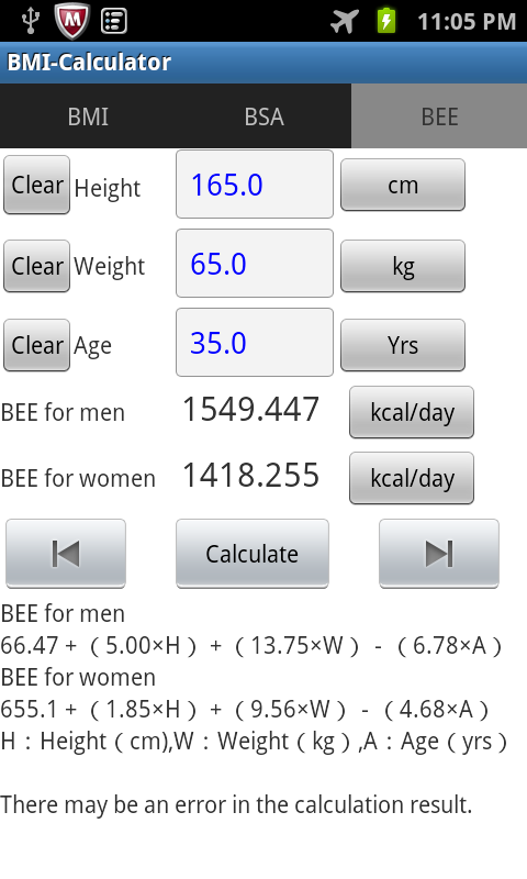 BMI-Calculator- screenshot