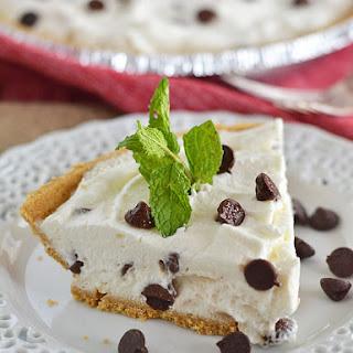Chocolate Chip Fluff Pie.