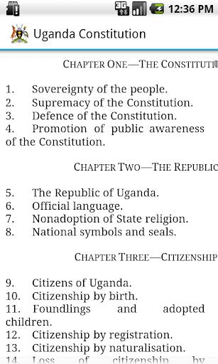 Uganda Constitution