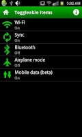Screenshot of Wi-Fi, Sync, 3G,... Scheduler