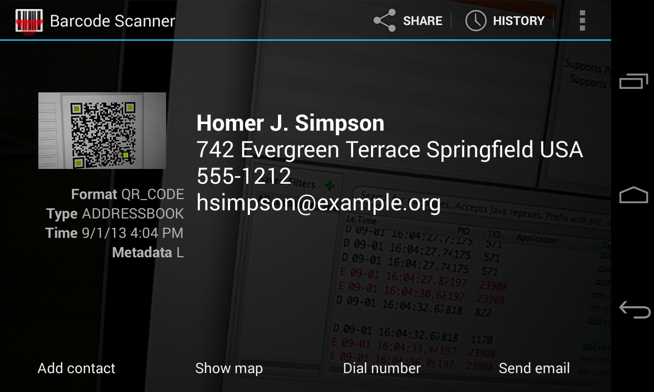 Barcode Scanner- screenshot