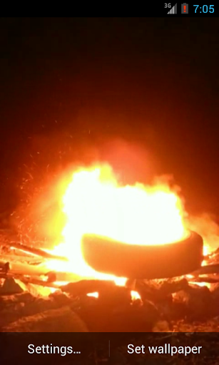 Tire burning Live Wallpaper