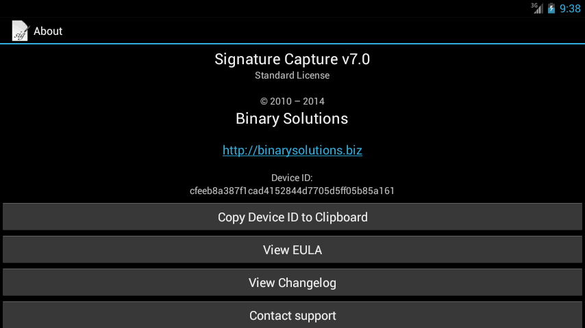 Signature Capture- screenshot