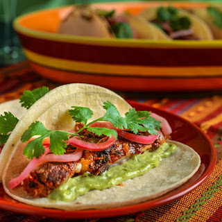 Ancho Braised Pork Belly Tacos.