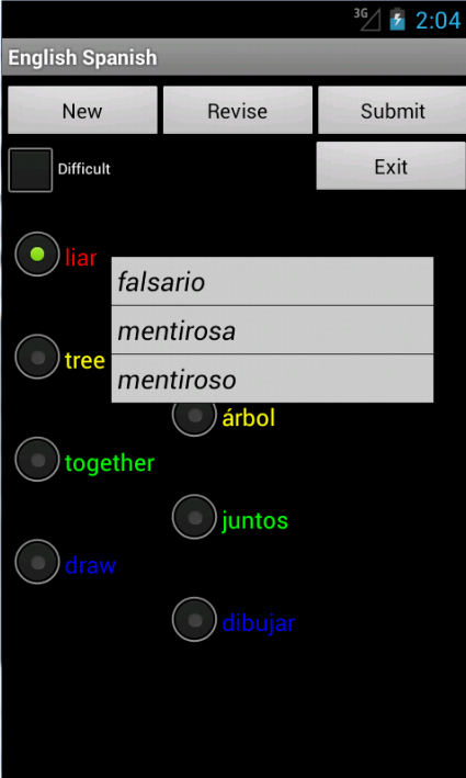 English Spanish Tutor- screenshot