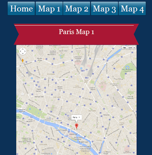 Paris Clock maps for tourists