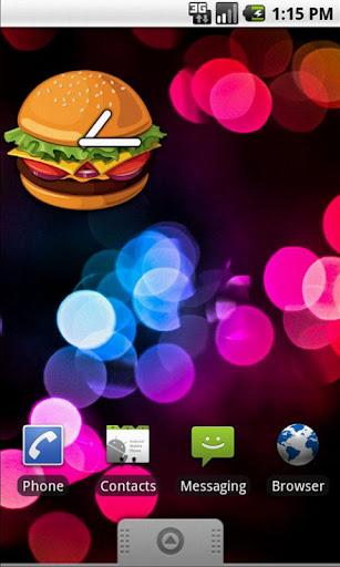 Burger Clock Widget