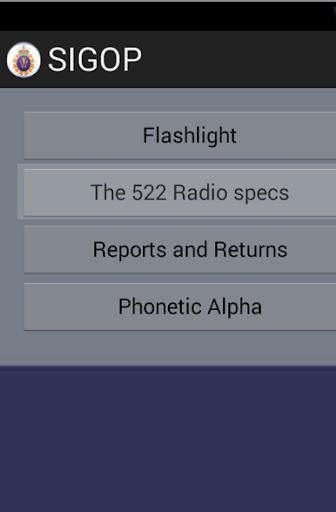 Sig Op Radio Reference