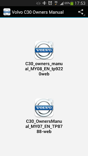 Volvo C30 Owners Manual