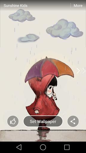 Umbrella Girl Live Wallpaper