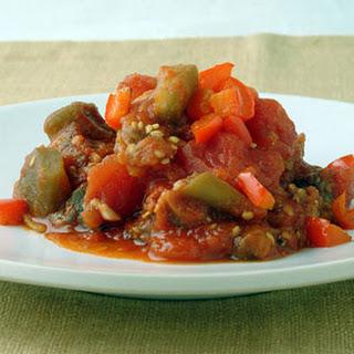 Eggplant and Tomato Tagine.