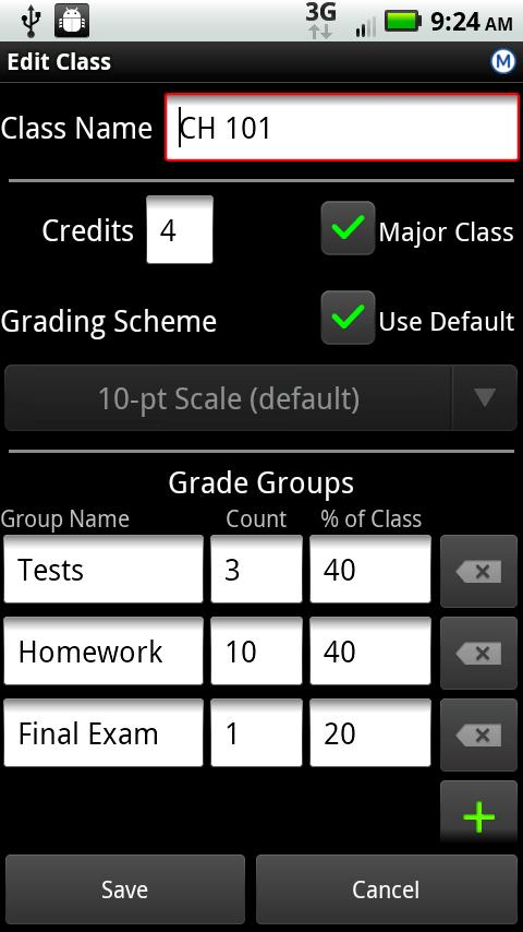 GradeWizard Lite- screenshot