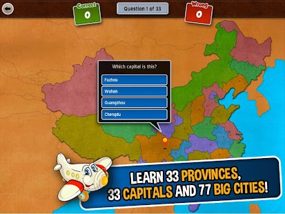 GeoFlight China: Geography- screenshot thumbnail