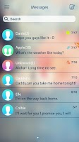 Screenshot of GO SMS PRO GLASS II THEME
