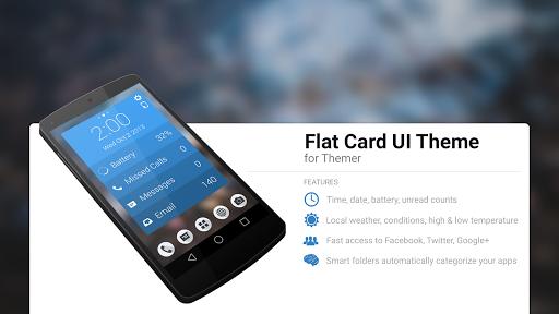 Flat Card UI Theme