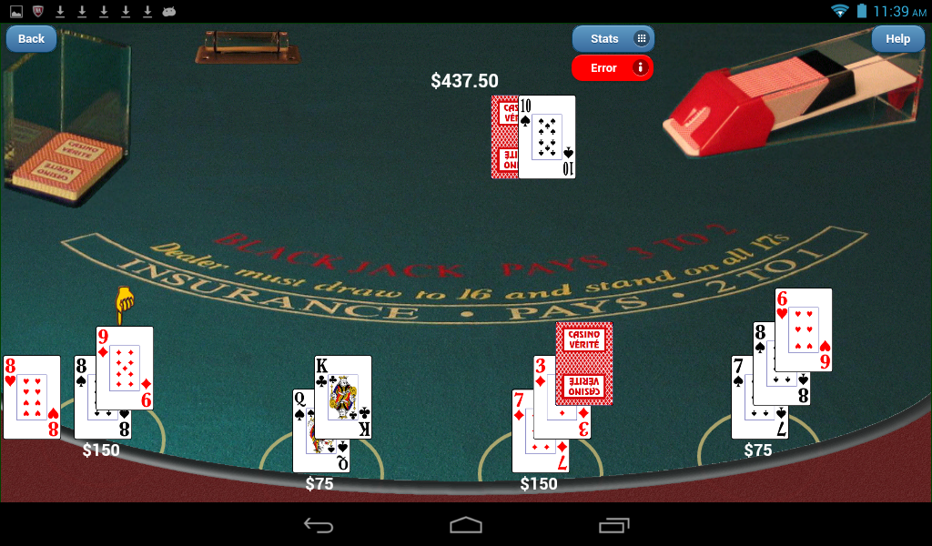 Blackjack Verite Games- screenshot