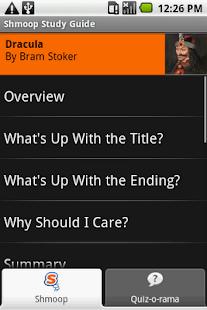 Dracula: Shmoop Guide- screenshot thumbnail
