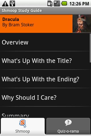 Dracula: Shmoop Guide- screenshot