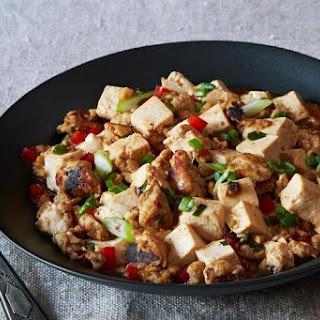 Ma Po Tofu (Stir-Fried Bean Curd with Ground Turkey).
