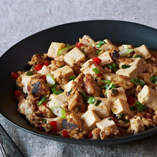 Ma Po Tofu (Stir-Fried Bean Curd with Ground Turkey).
