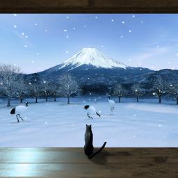 和の風景~冬~☆パノラマライブ壁紙