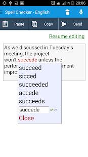 Spell Checker - Spelling boost - screenshot thumbnail