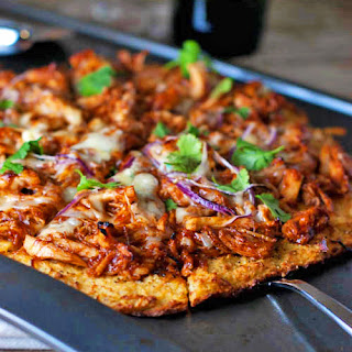 Light BBQ Chicken Pizza.