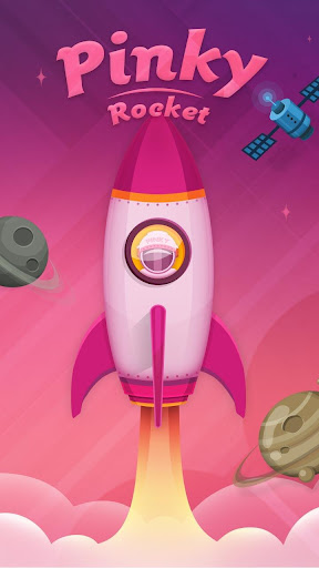 Pinky Rocket GO Launcher Theme