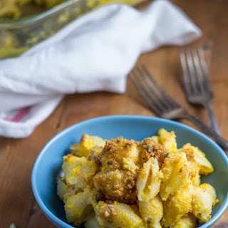 Baked Butternut and Turkey Pasta Shells with Brown Butter Sage Breadcrumbs.