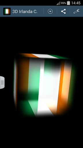 3D Ireland Cube Flag LWP