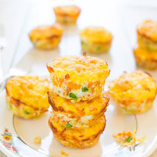 100-Calorie Cheese, Vegetable and Egg Muffins (gluten-free)