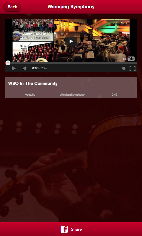 Winnipeg Symphony Orchestra - screenshot