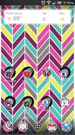 Herringbone Multicolor Theme