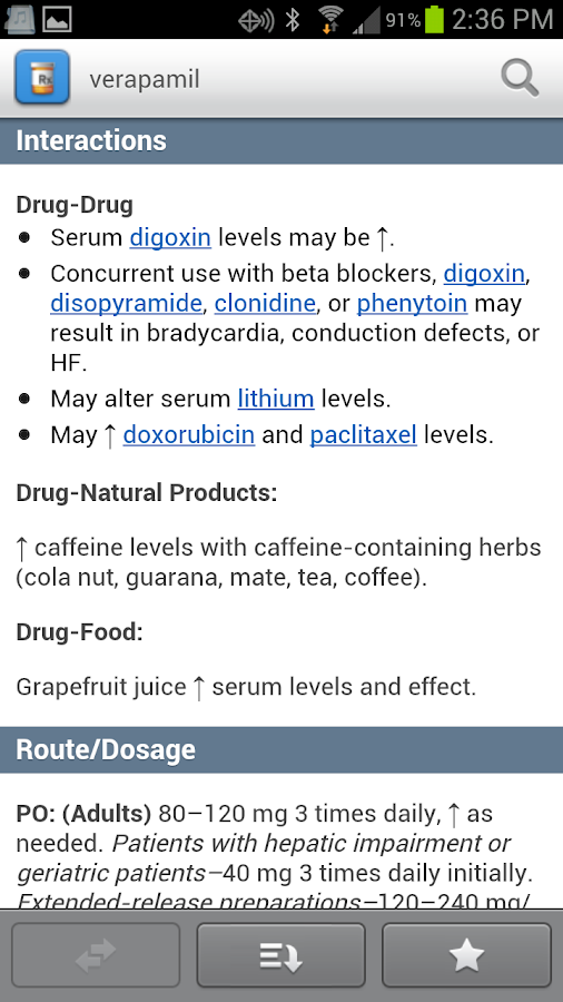 Davis's Drug Guide - screenshot