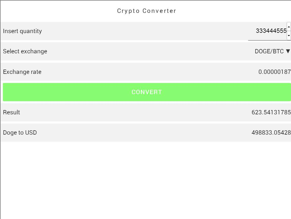 Dogecoin Converter- screenshot