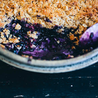 Blueberry & Blackberry Crumble.