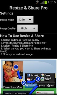 Image Resize and Share - screenshot thumbnail