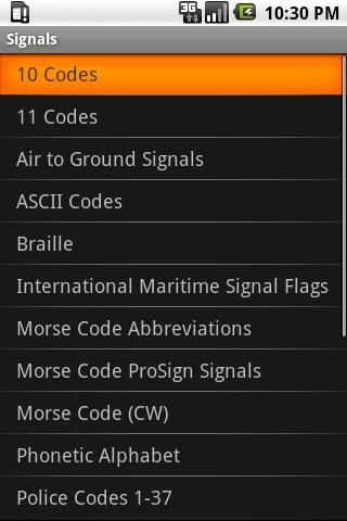Signals - screenshot
