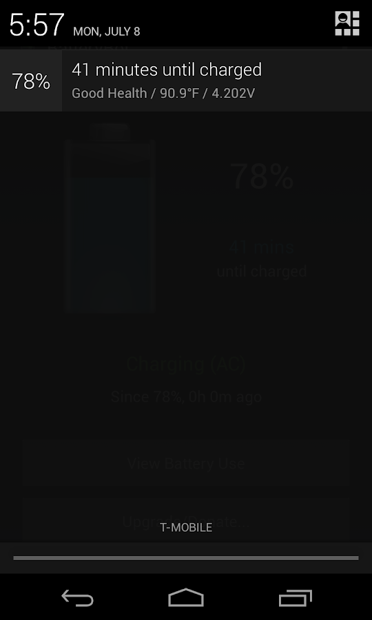 BatteryBot Battery Indicator - screenshot