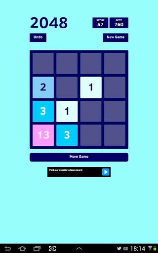 2048 Blue Fibonacci