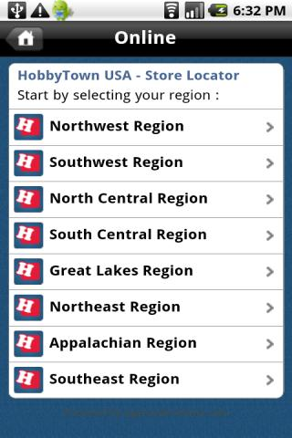 Hobby Town USA Store Locator - screenshot