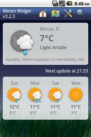 Meteo Widget - screenshot