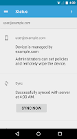 Screenshot of Google Apps Device Policy