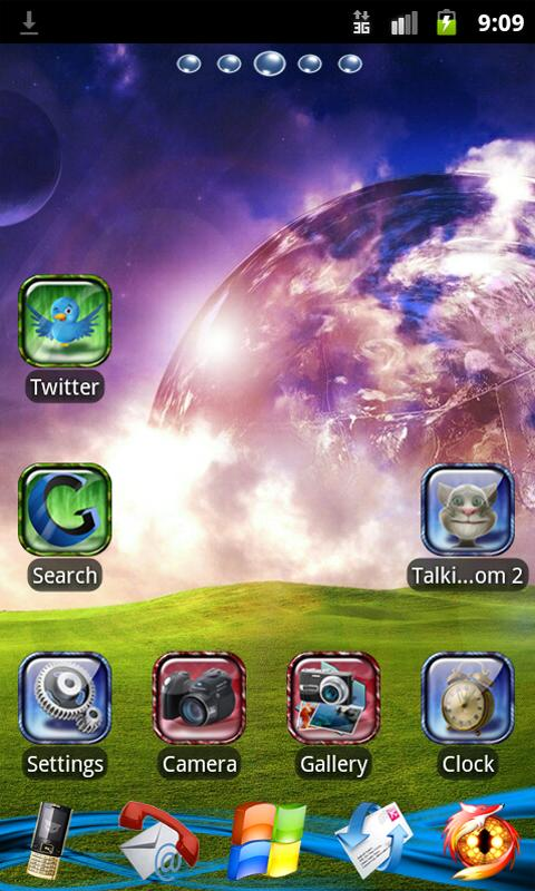 Go Launcher EX Theme Bright - screenshot