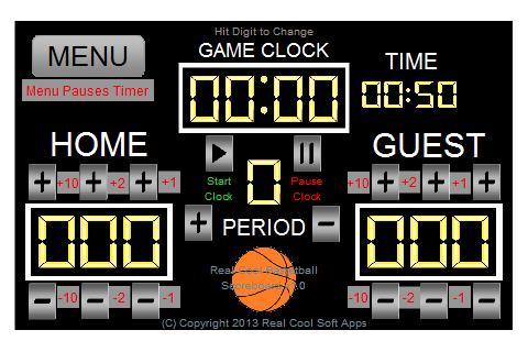 Basketball Scoreboard Standard v2 - PC Scoreboards