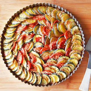Zucchini, Potato and Tomato Casserole {Vegan}