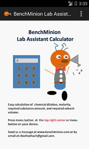 BenchMinion Lab Calculator